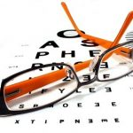 Image of glasses and eye chart. New Eye Care Benefit for Retirees