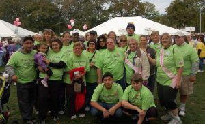 Image of participants as BTU Making Strides Teams Boost Funds Raised by $3,000.