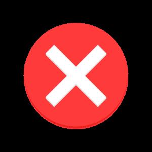 Blocked False X