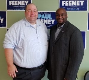 Image of Paul Feeney and BTU Political Director Johnny McInnis