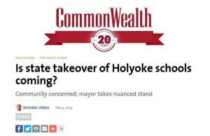 Is state takeover of Holyoke schools coming?