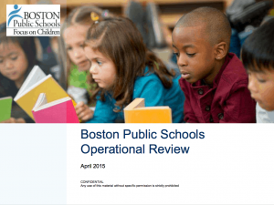 Cover of McKinsey & Co Boston Public Schools Operational Review report