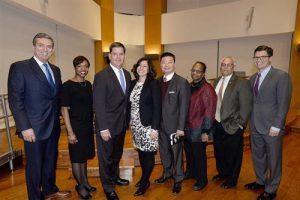 Photo of Boston School Committee members and Mayor Marty Walsh