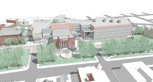 artists rendering of proposed somerville high school
