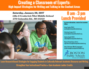 image of classroom of experts flyer