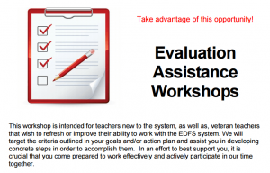 screenshot of eval workshop flyer