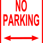 no parking sign licensed for noncommercial reuse