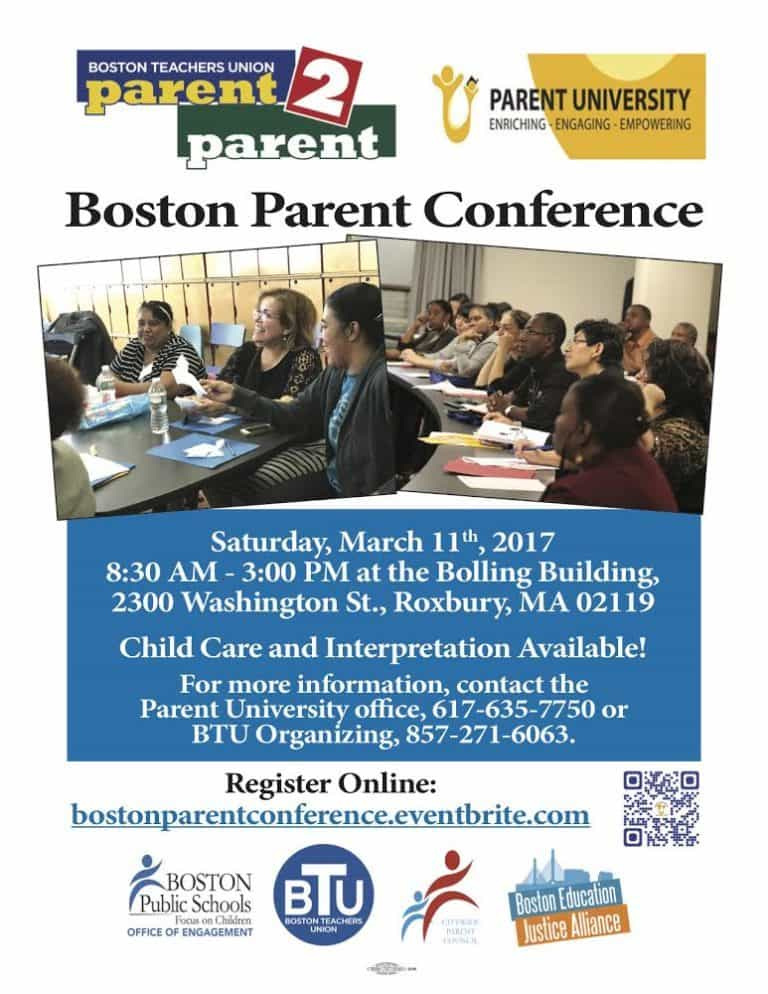Image of English edition of Parent 2 Parent Conference information.