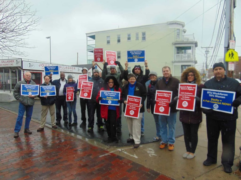 User upload: Attached is the Community Academy of Science and Health and Dorchester Academy Teachers working together to protest and make the citizens traveling on Dorchester Ave, In Dorchester, aware of the unfair contract negotiations against our teachers and the BTU organization.