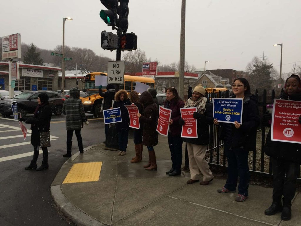 User upload: Pics of walk-in at Baldwin ELC March 10 #ContractNow