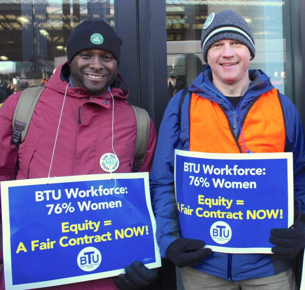 User upload: Erik Berg and Johnny McInnis at the Rally for A Fair Contract