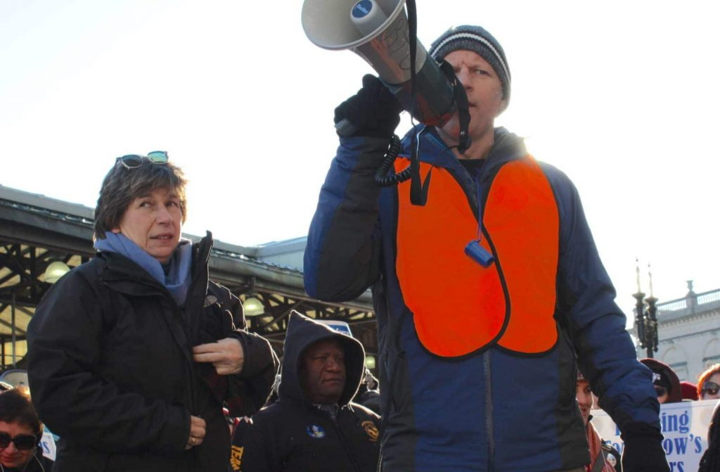 User upload: Erik Berg and Randi Weingarten at the Rally for a Fair Contract
