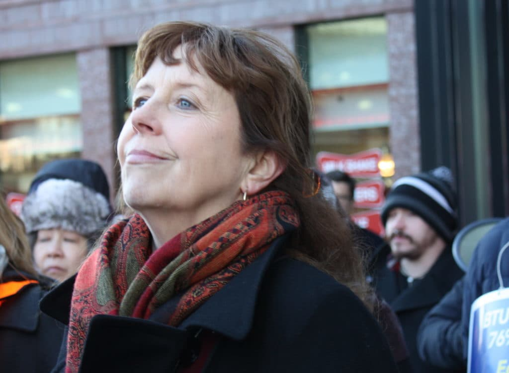 User upload: Betsy Drinan at the Rally for a Fair Contract