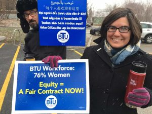 Boston Teachers Union Rallies for a New Contract