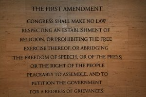 Image of text of First Amendment