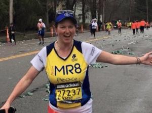 Kathleen running in Boston marathon for MR8 foundation