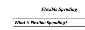 Flexible spending Header