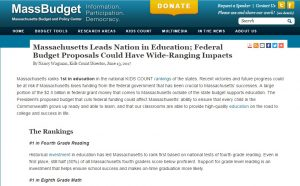 Massachusetts Leads Nation in Education; Federal Budget Proposals Could Have Wide-Ranging Impacts