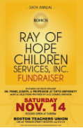 Ray of hope Fundraiser Poster