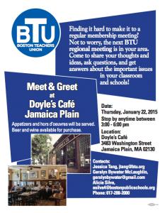 BTU Meet and Greet Poster
