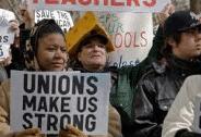 unions make us strong rally sign