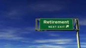 Retirement Exit Highway Sign