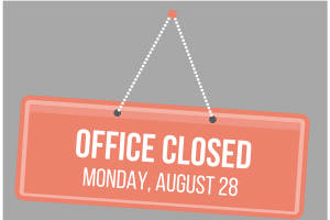 image of office closed sign