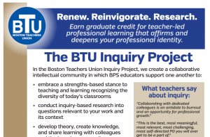 image of inquiry project partial flyer