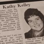 Kathy Kelley in BTU Newspaper