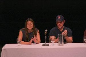 Jessica Tang and Matt Damon, Sept 2017