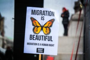 Migration is Beautiful protest sign