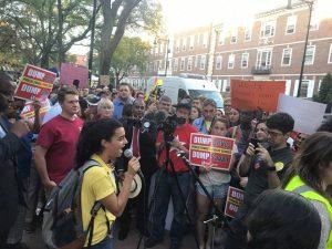 Betsy DeVos met by protesters at Harvard speech on school choice