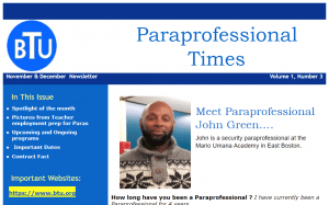 Paraprofessional Times screenshot