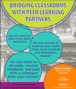 flyer for Bridging Classrooms PD