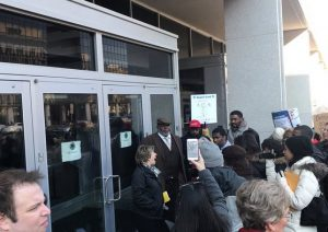 Education Department locks out union leaders who went to deliver 'report cards' to Betsy DeVos