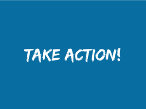 "Blue background with text ""Take Action!"""