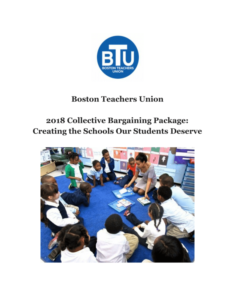 Front cover of 2018 Negotiating Proposals document, Creating the Schools Our Students Deserve