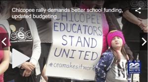 Chicopee rally demands better school funding, updated budgeting