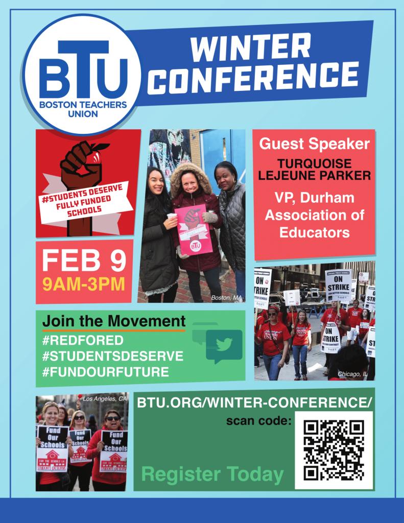 2019 Winter Conference | Boston Teachers Union