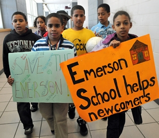 Emerson students Protest Closing